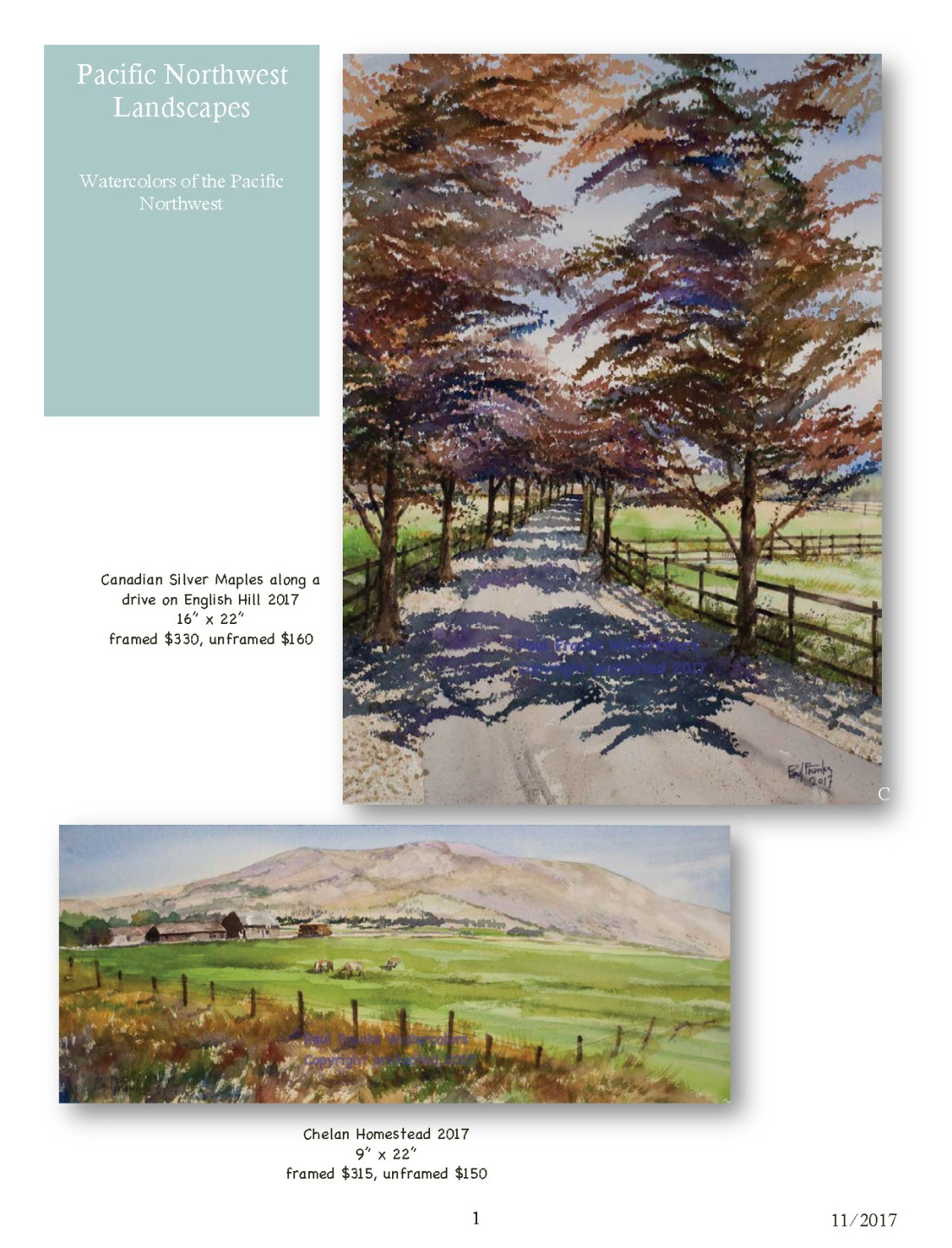 Paul Franks Watercolor Catalog-3 NW Landscapes_Page_1