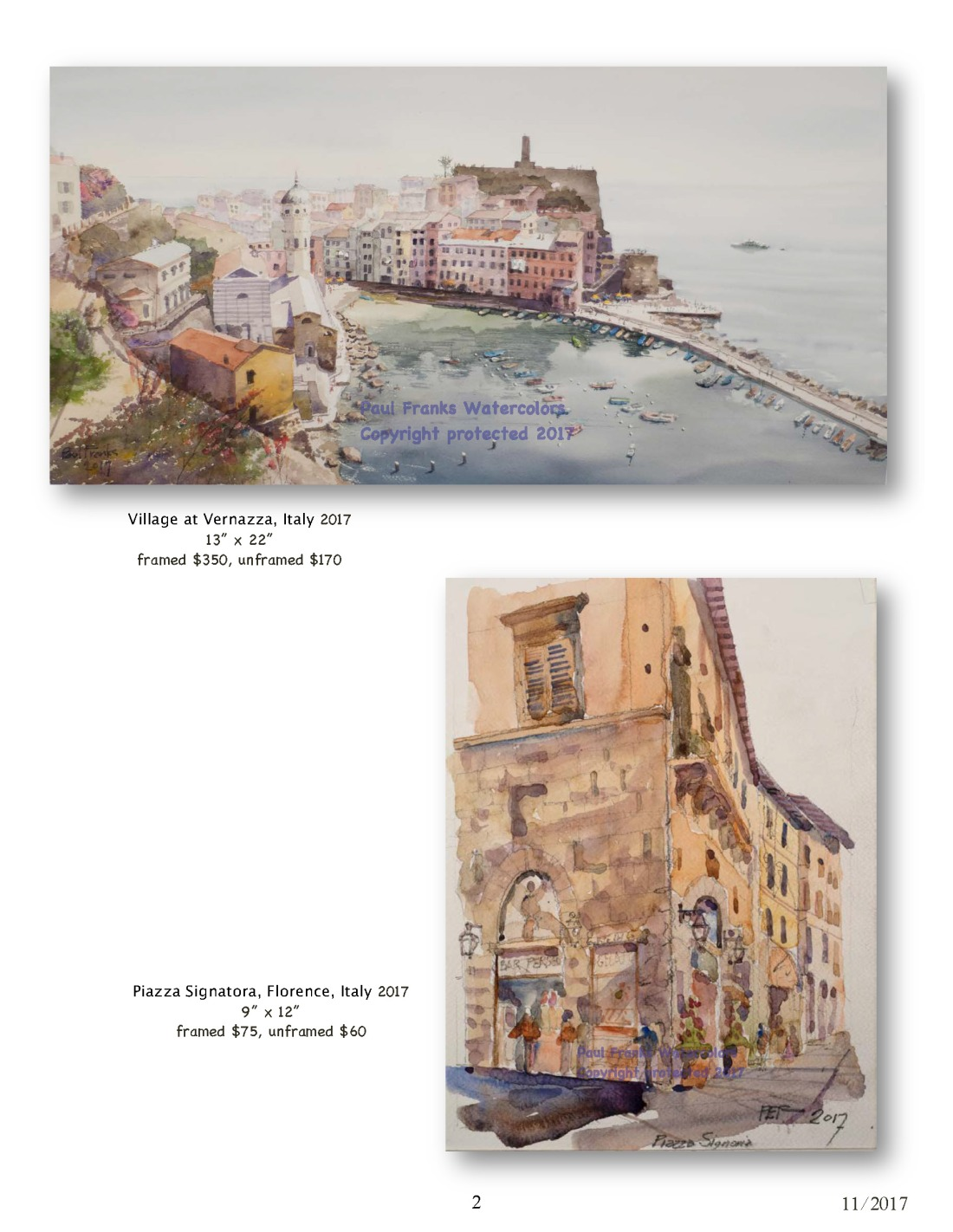 Paul Franks Watercolor Catalog-4 Italian Village_Landscapes_Page_2