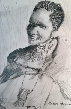 Maasai Woman sketch