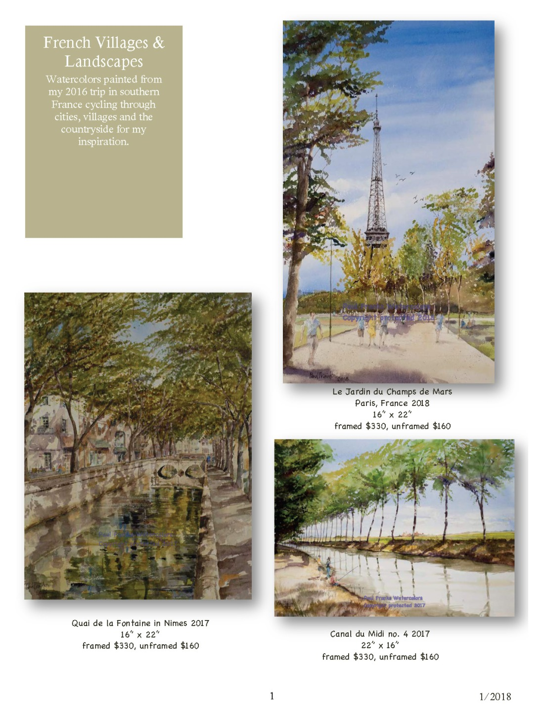 Paul Franks Watercolor Catalog-2 French Landscapes1_11_18_Page_1