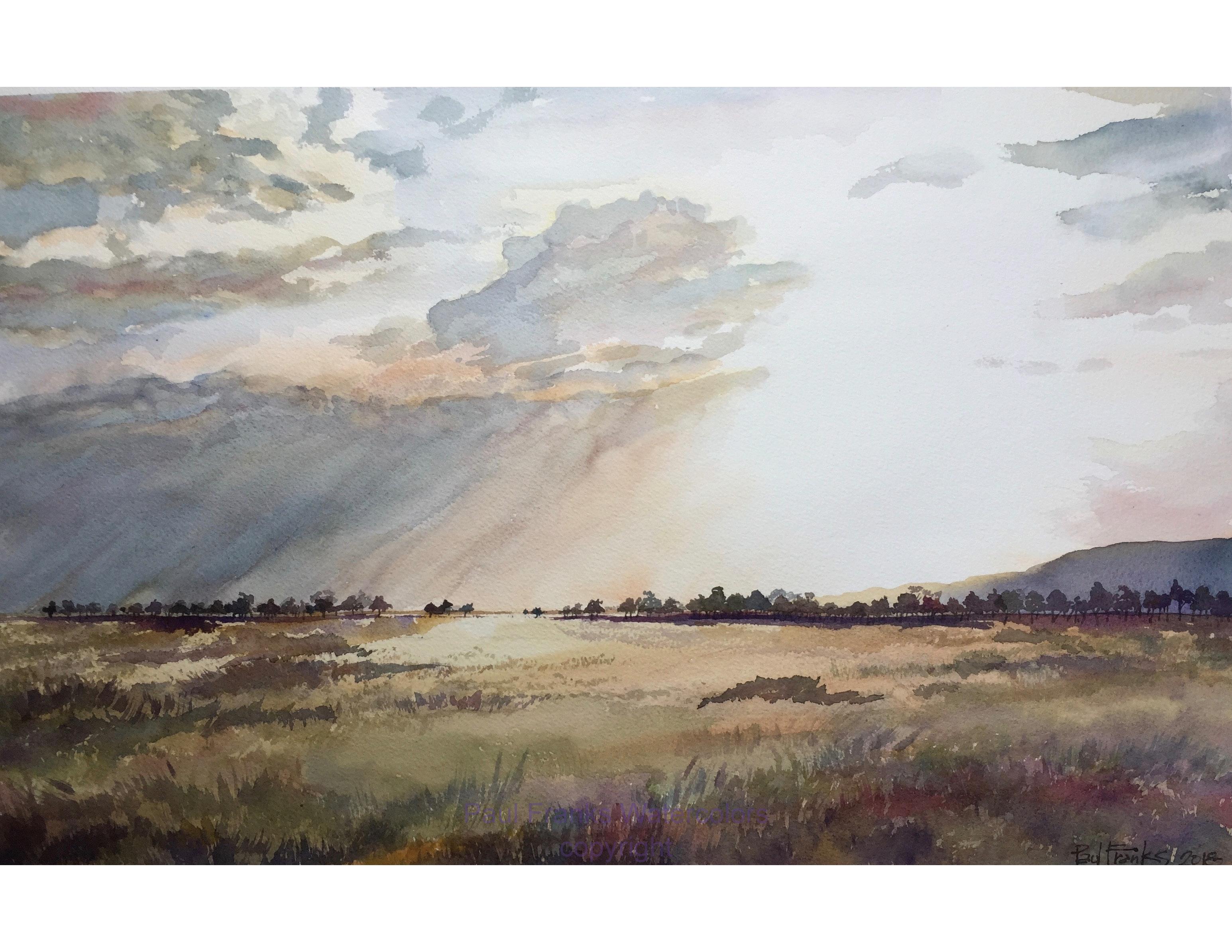 "Silhouettes on the Maasai Mara 14"" x 22"" giclee print $140, framed $320"