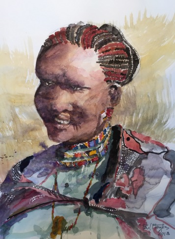 Study sketch Maasai Woman
